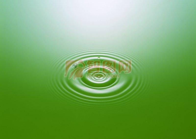 綠色背景水波素材