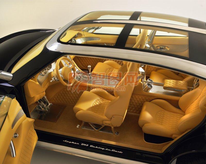 汽车内部结构俯视图