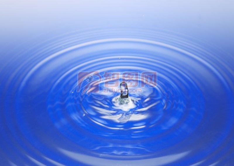 深藍色背景水波元素