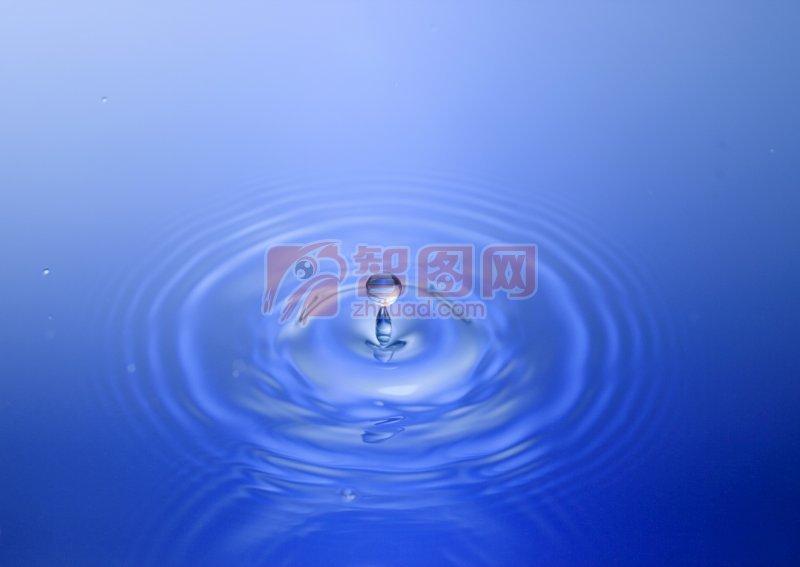 深藍色水波元素