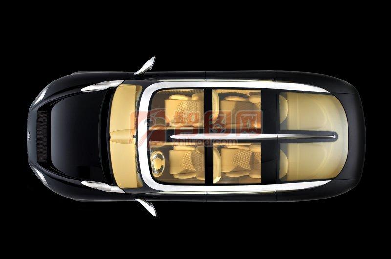 汽车内部座椅结构图 俯视图