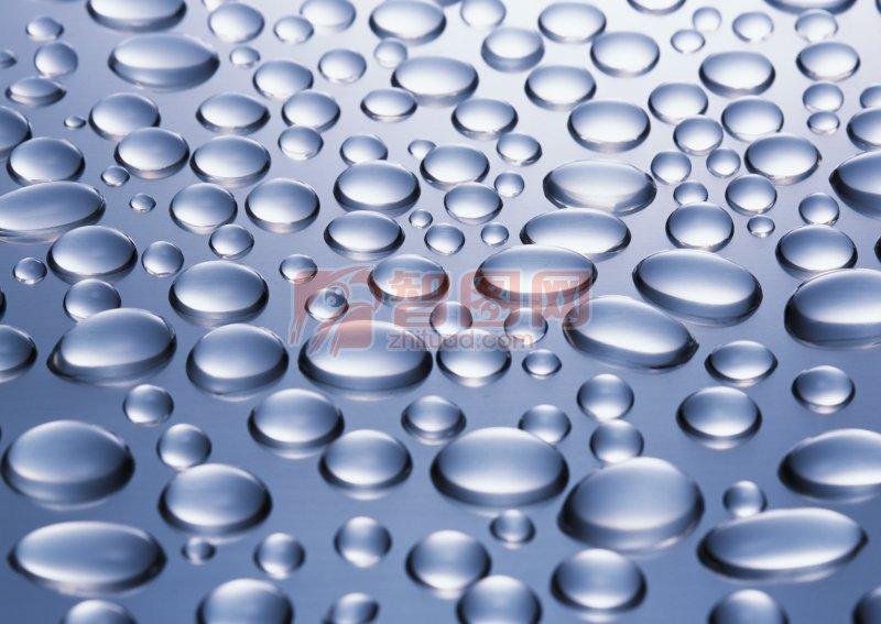藍灰色水珠元素