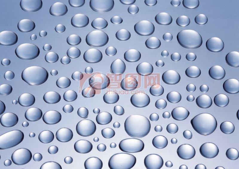 藍灰色水珠