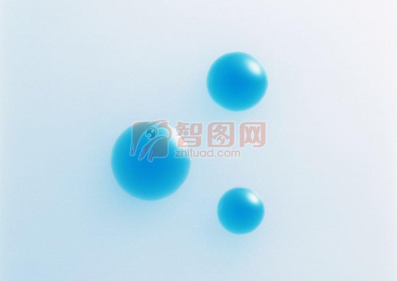 藍色水珠元素