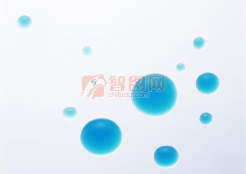 藍色水珠素材