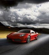 Scuderia红色轿车