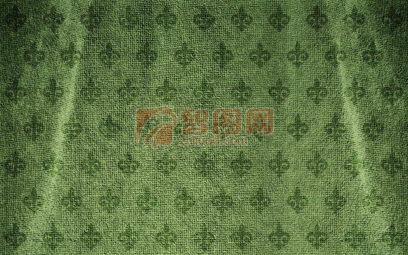 深綠色布料元素