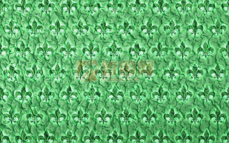綠色布料元素