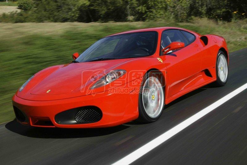 红色法拉利轿车元素