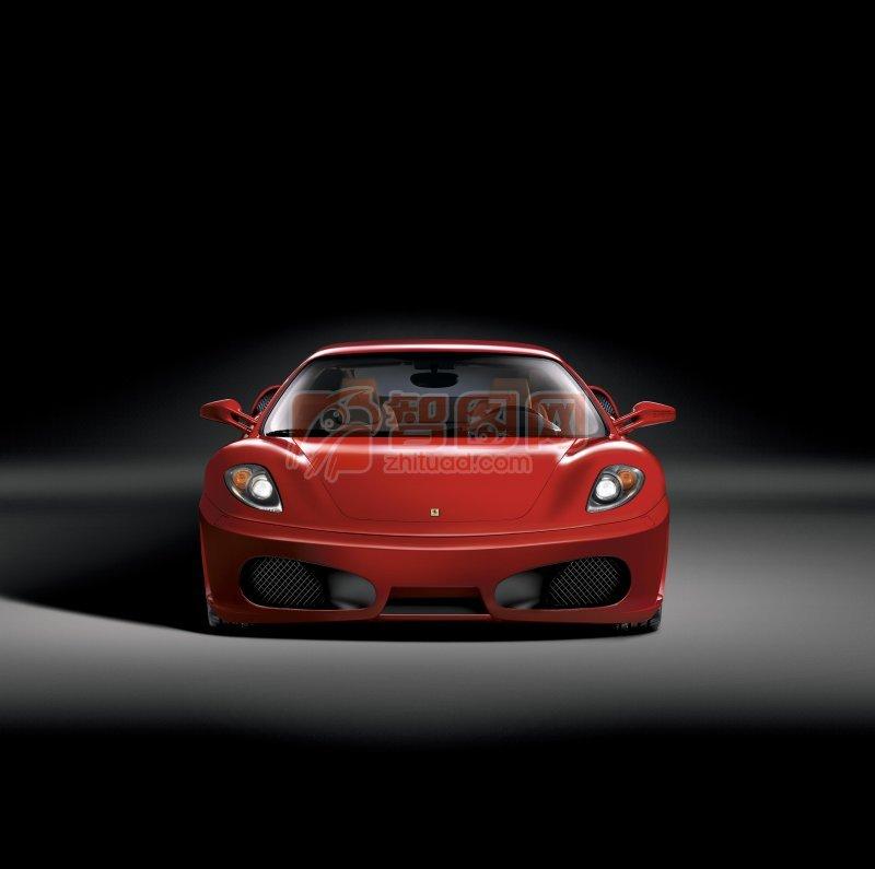 红色法拉利轿车素材