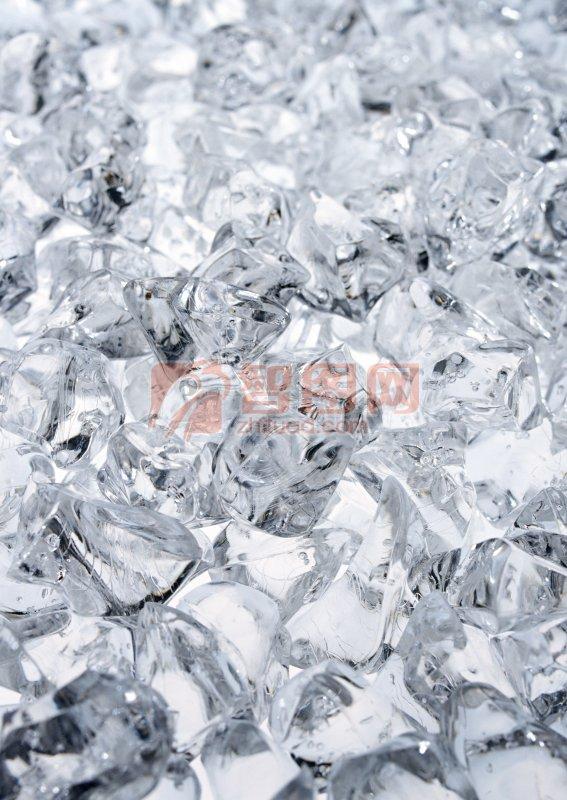 淺灰色冰塊元素