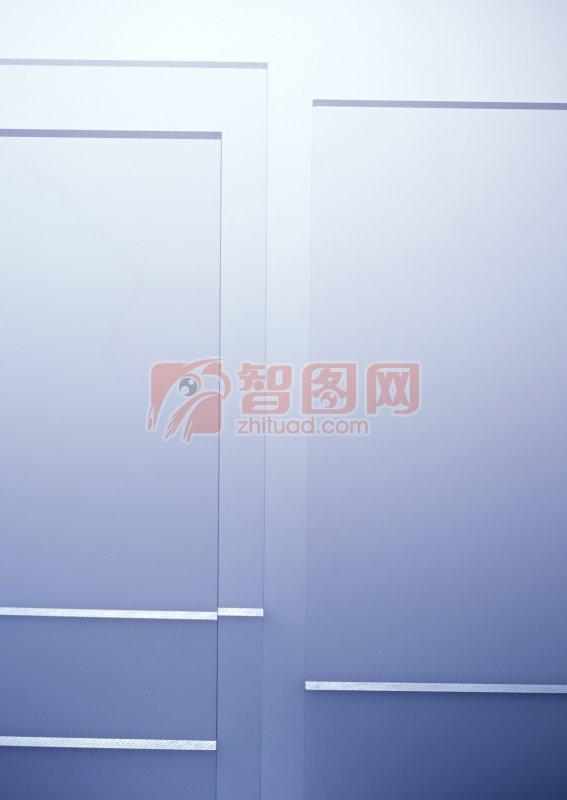 藍色背景玻璃元素