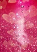 粉紅色背景愛心元素