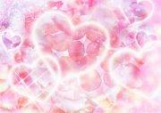 粉色背景愛心元素