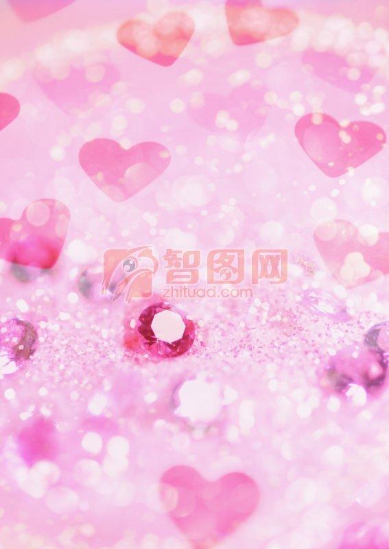 粉色愛心素材