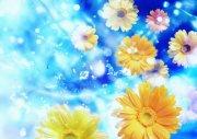 黃色鮮花元素
