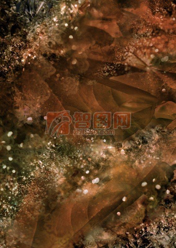 深棕色樹葉