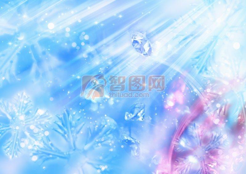 藍色背景節日元素