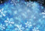 淺藍色雪花元素