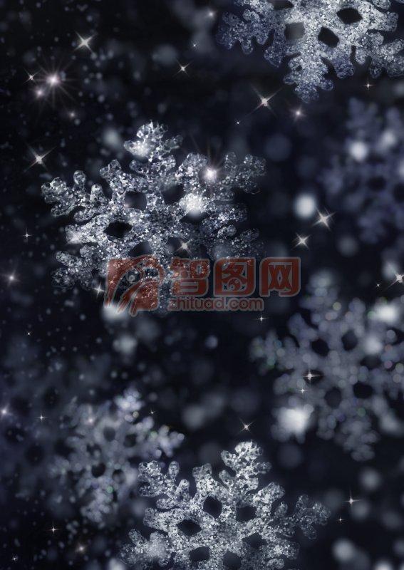 关键词: 高清雪花元素 白色雪花 黑色背景 雪花摄影 雪花摄影素材