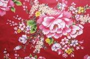 紅色背景絲綢元素