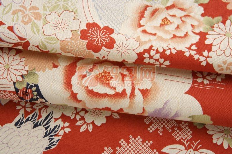 花朵絲綢元素