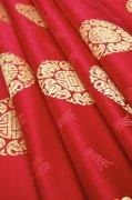 紅色絲綢元素