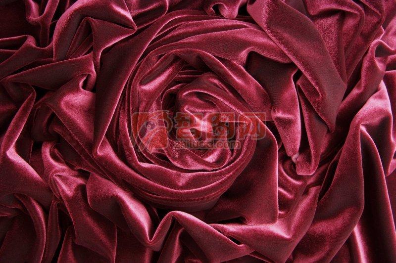 紫紅色絲綢元素