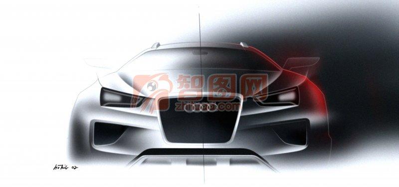 Coupe quattro轎車元素攝影