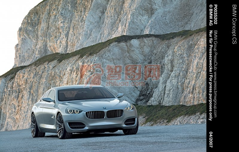 CS概念車銀白色轎車