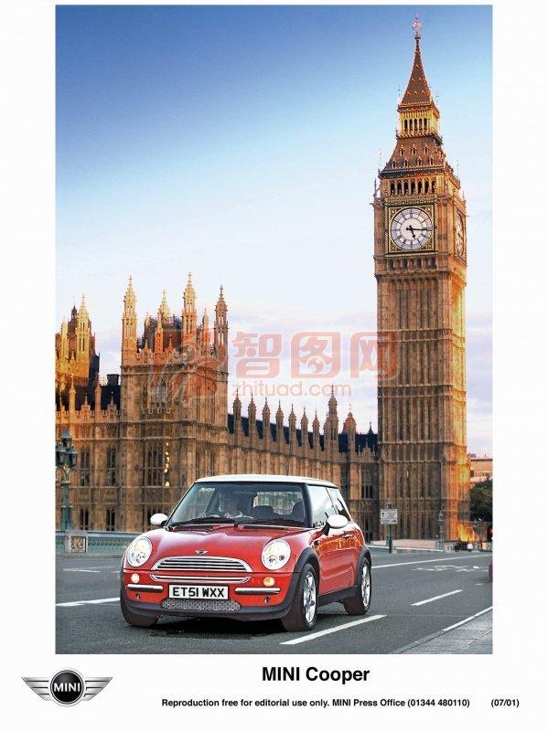 MINI轿车海报高清图片