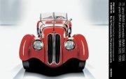紅色車身古董車元素