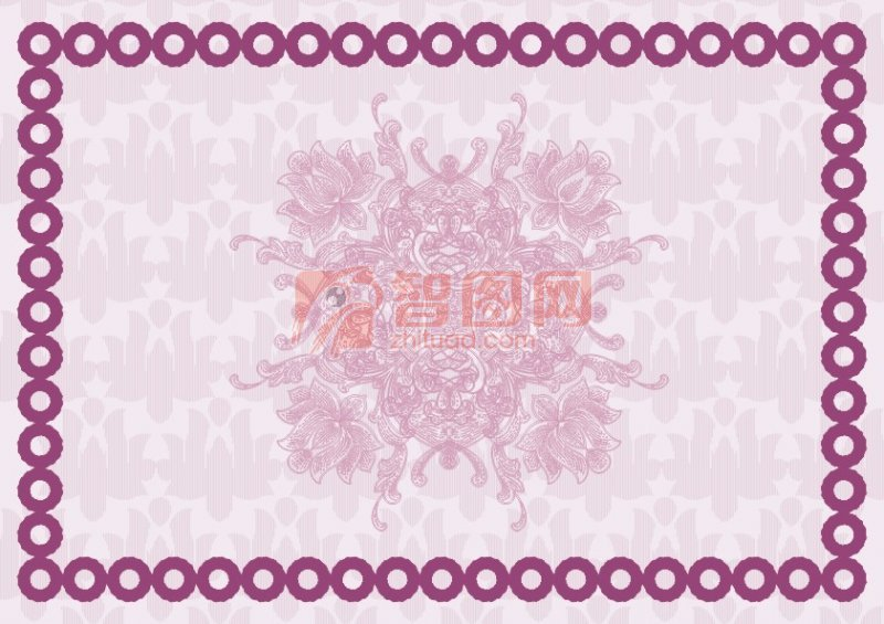 紫蓮花美容證書紋