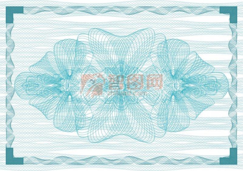 冰藍雪花商業證書紋