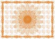 黃橙橙證書底紋