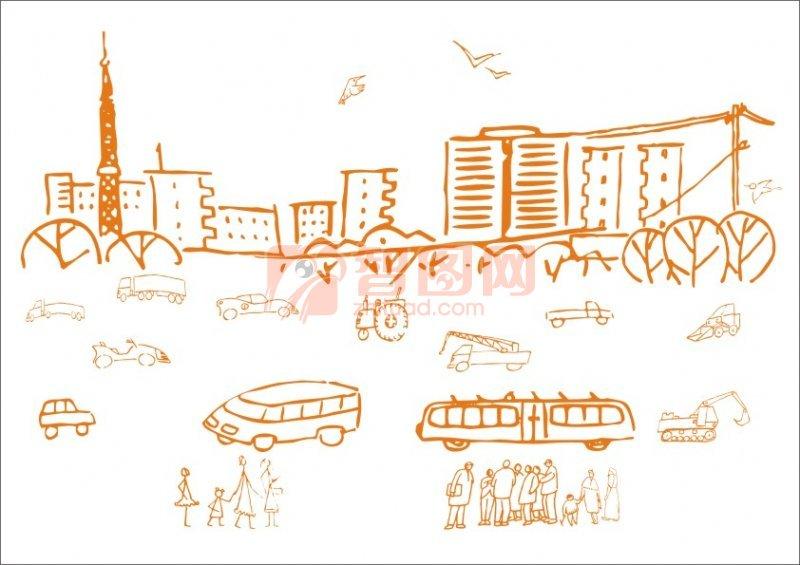 公路等車-城市畫