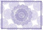 紫罗兰花朵经销商证书纹
