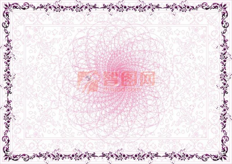 紫檀花-美容类证书纹