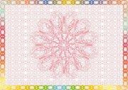 粉色彩虹-商业证书纹