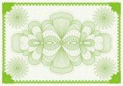 青枝绿叶荣誉证书纹
