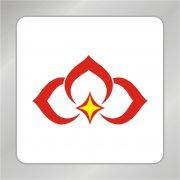 金融花纹标志 爱心标志 铜钱logo
