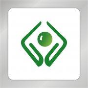 节能环保标志 双手捧水logo