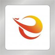 凤凰字母组合标志 E字母logo