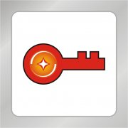 钥匙标志 红色钥匙logo 金融标志
