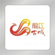 丽江古城标志 飞舞凤凰标志