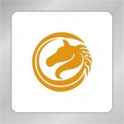 金色马头标志