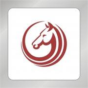 圆圈马头标志 O字母标志