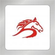 骏马马头标志