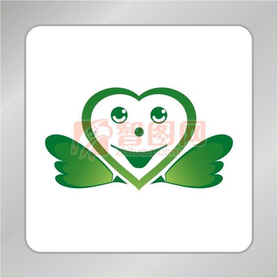 【cdr】爱心笑脸标志 可爱笑脸标志