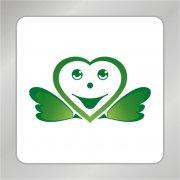 爱心笑脸标志 可爱笑脸标志 天使翅膀标志